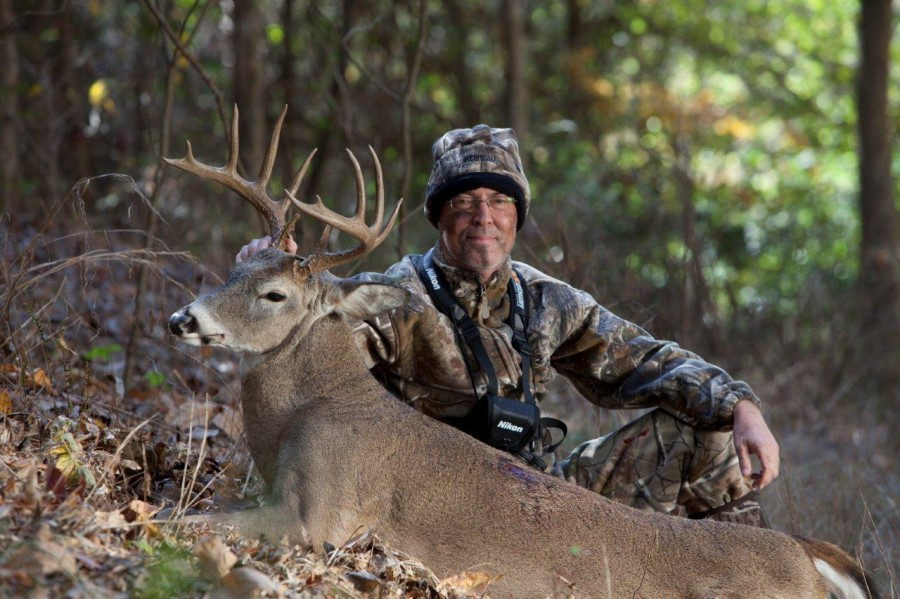 Dr. Grant Woods With Whitetail Buck Killed Bow Hunting In Missouri