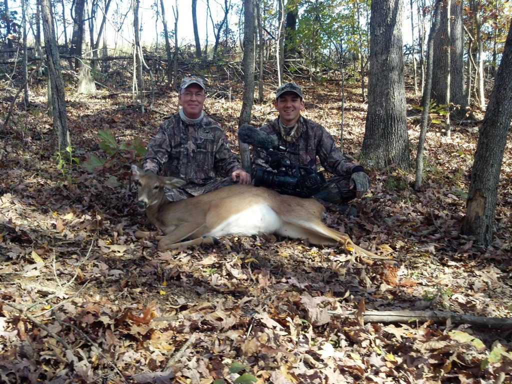 Whitetail Doe Harvested With Dr. Grant Woods And Cameraman Brian Hoffmyer