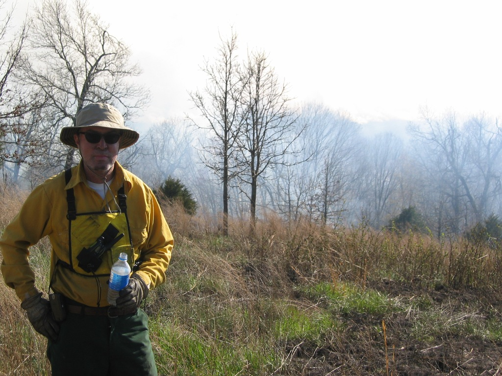 Taking a break after a good day of prescribed fire