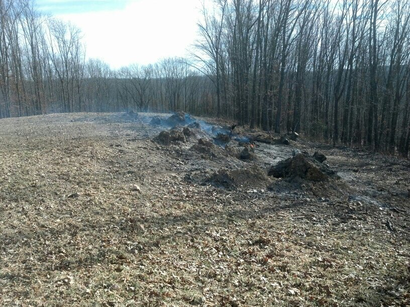 Burning Brush Piles to clean up a food plot