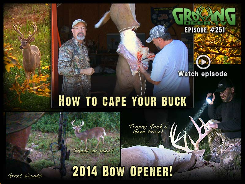 Watch the first bow hunt of 2014 in GrowingDeer.tv episode #251.