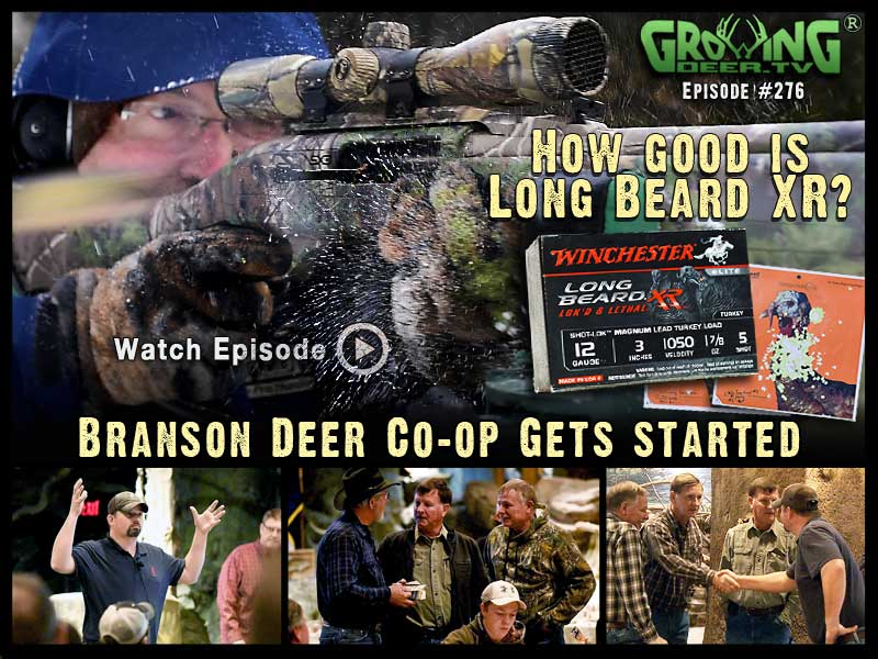 Watch GrowingDeer.tv episode #276 to see a 60 yard turkey load.