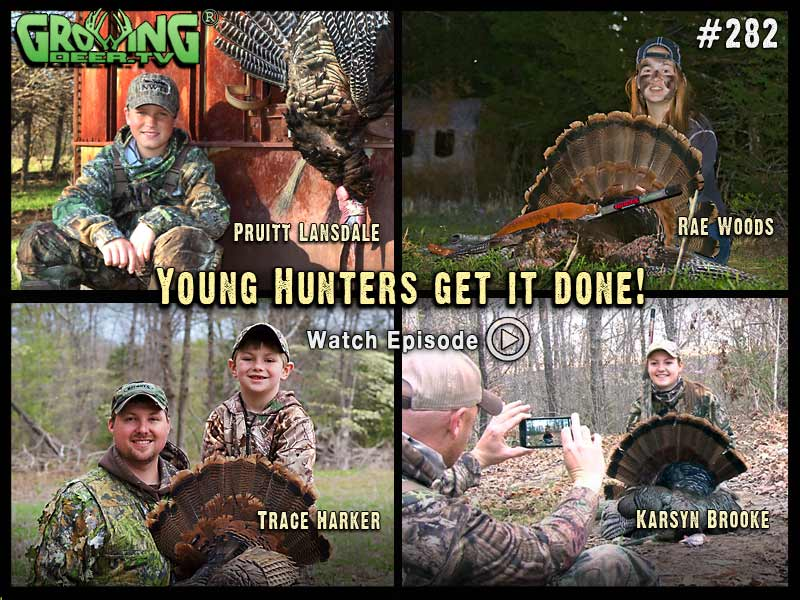 Watch four youth hunts in GrowingDeer.tv episode #282.