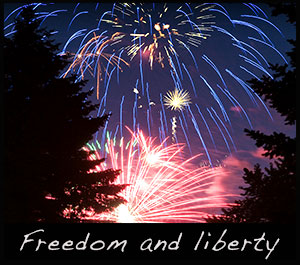 Fireworks celebrate our American freedom and liberty.