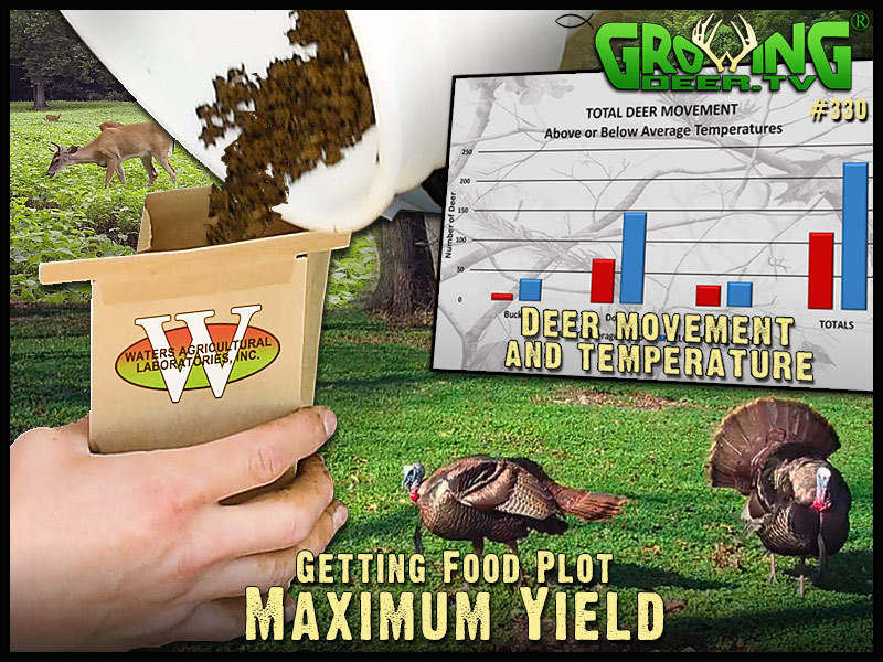 Watch GrowingDeer episode 330 to learn how to get maximum yield out of your food plots.