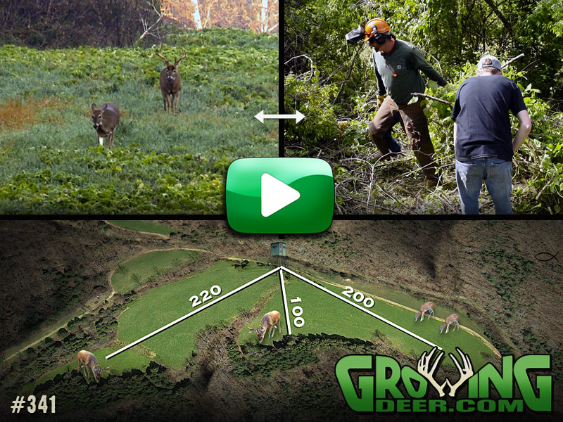 Watch how we transform our largest food plot in GrowingDeer episode 341.