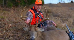 Grant tags a hit list buck using Winchester Deer Season XP ammo.