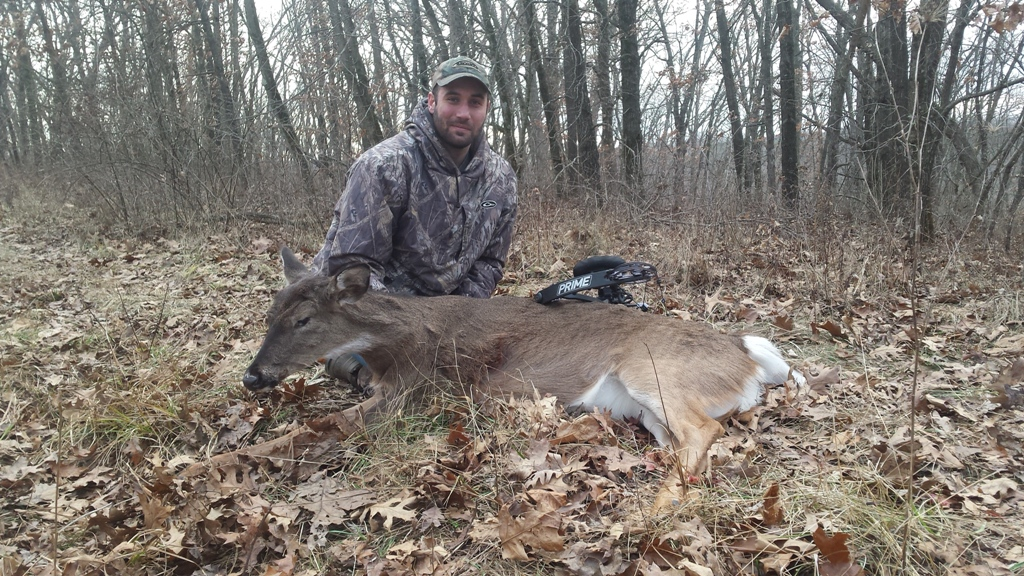 This doe was traveling from a food source to a bedding area during a late season hunt.