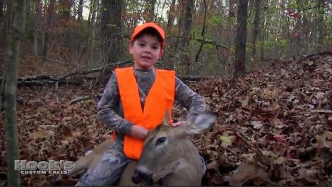 Rylan White with his first buck ever