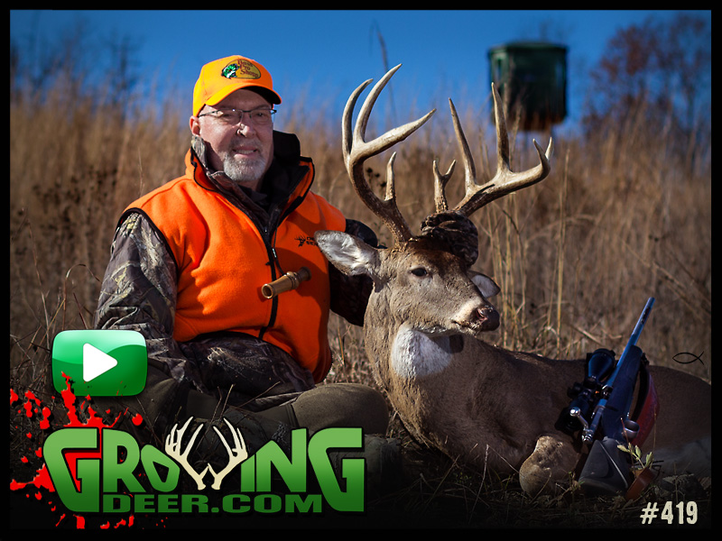 Watch Grant tag a hit list buck in episode 419 on GrowingDeer.com.