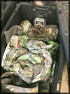 ScentCrusher full of turkey hunting clothes