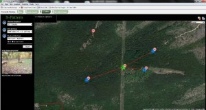 Image from Reconyx Map View Showing thetravel pattern of the buck Clean 12