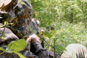 Grant takes aim at a turkey