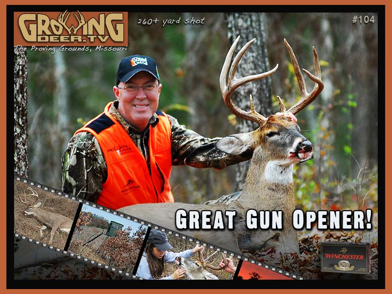 "Dr. Grant Woods with hit list buck ""Tall 8"""