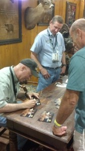 Grant signing autographs at Land & Wildlife Expo 2012