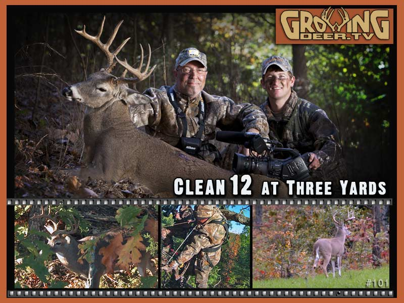 The buck Clean 12 is harvested by Grant Woods