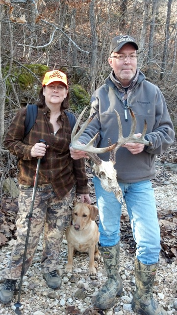 Skull and antlers of a white-tailed buck found intack that died last year