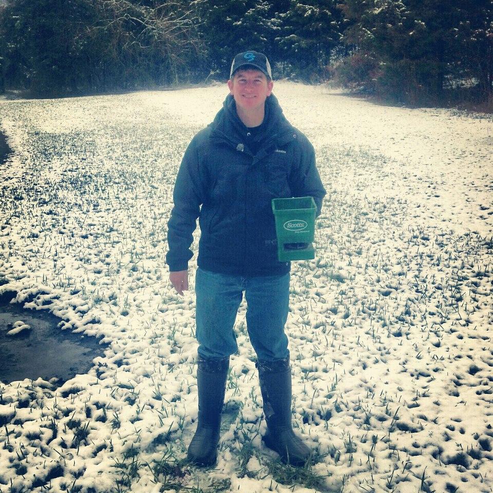 Frost seeding clover