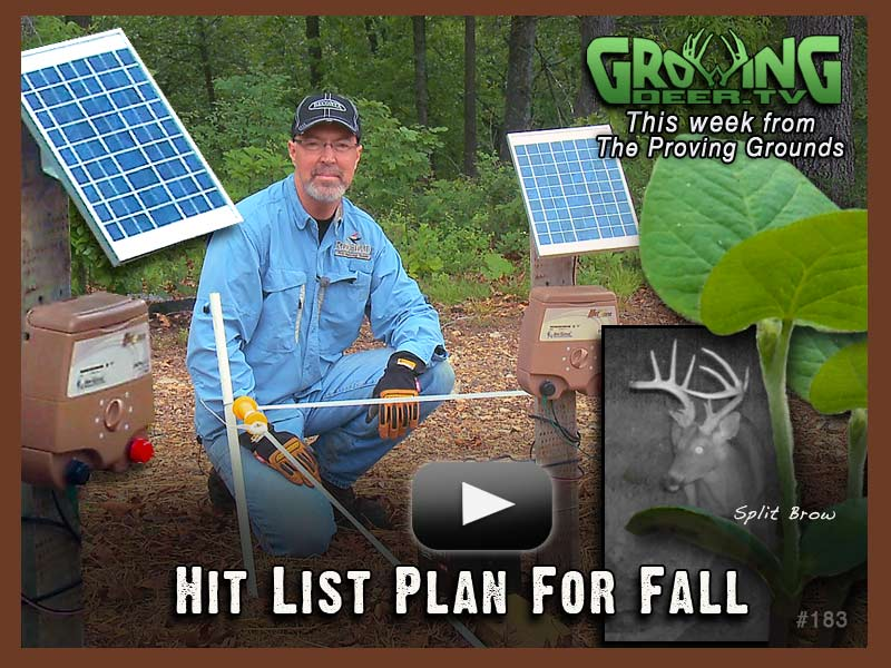 Grant is working on small plots now for his fall hit list in episode #183.