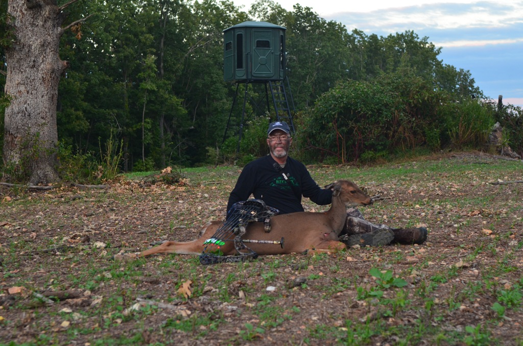 Doe shot during Missouri's 2013 archery season
