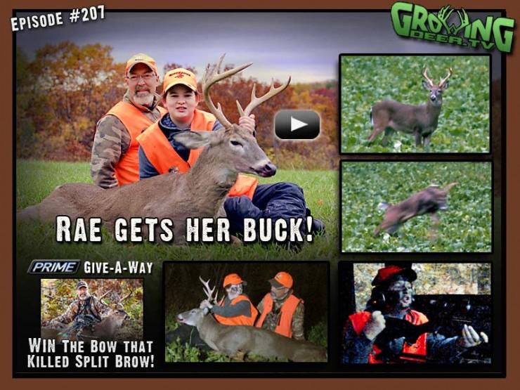 Rae kills a buck during youth season in episode #207 at GrowingDeer.tv.