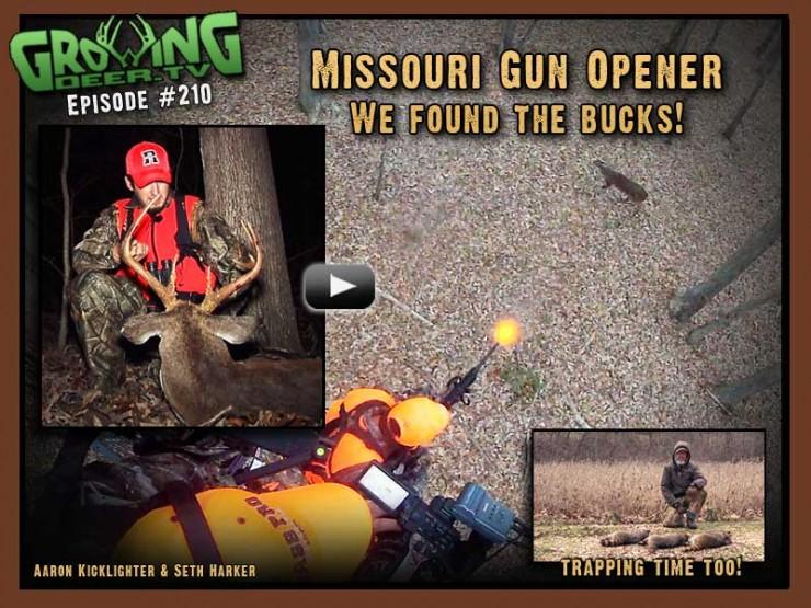 Opening weekend of gun season in GrowingDeer.tv episode #210.