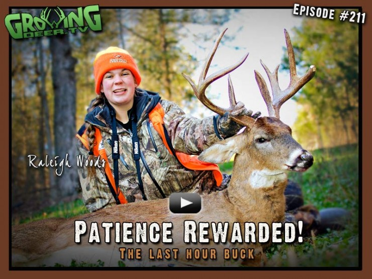Raleigh Woods takes a buck in episode #211 on GrowingDeer.tv.