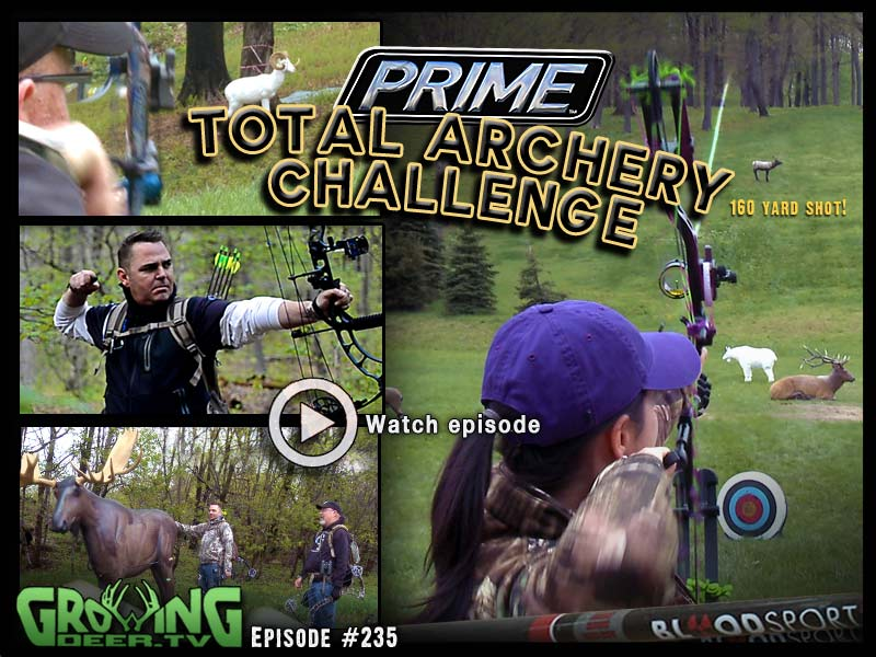 100+ yard bow shots at The Prime Total Archery Challenge