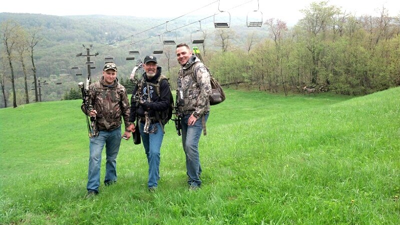 Grant, David, and John at the Prime Total Archery Challenge