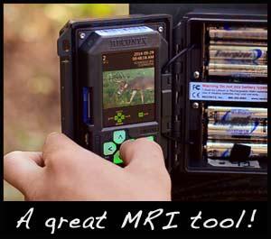 A trail camera.