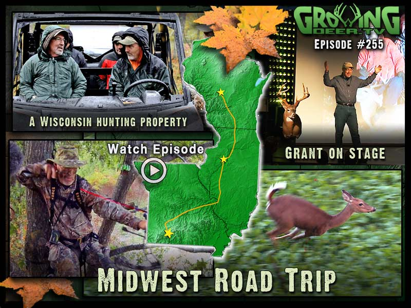 Grant has a successful bow hunt in GrowingDeer.tv episode #255.