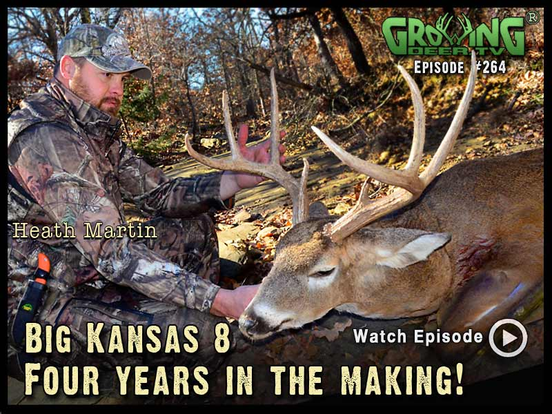 Heath Martin puts a big, Kansas 8 point down in GrowingDeer.tv episode #264.