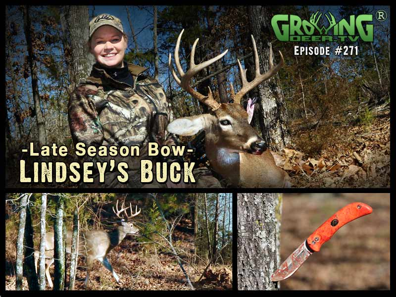 Lindsey Martin arrows her first buck in GrowingDeer.tv episode #271.