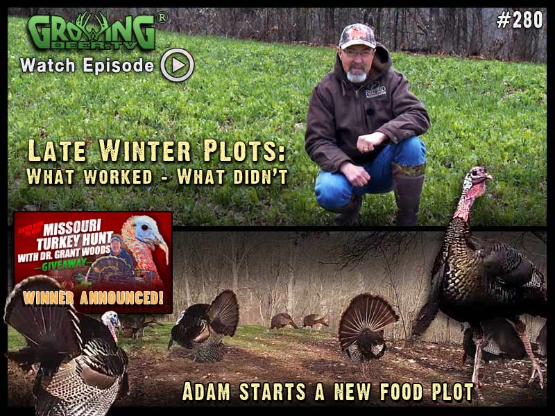 In GrowingDeer.tv episode #280 we figure out what worked and what didn't in Grant's food plots.