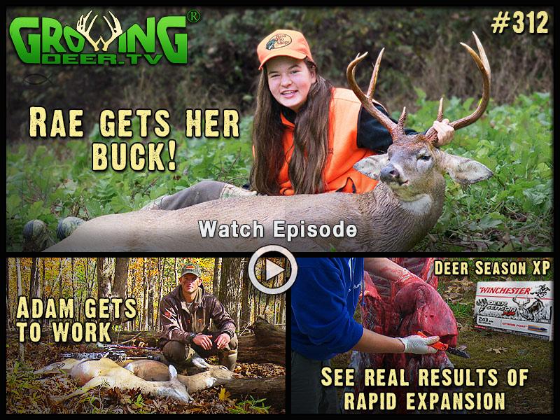Watch Rae get her buck in GrowingDeer episode #312.