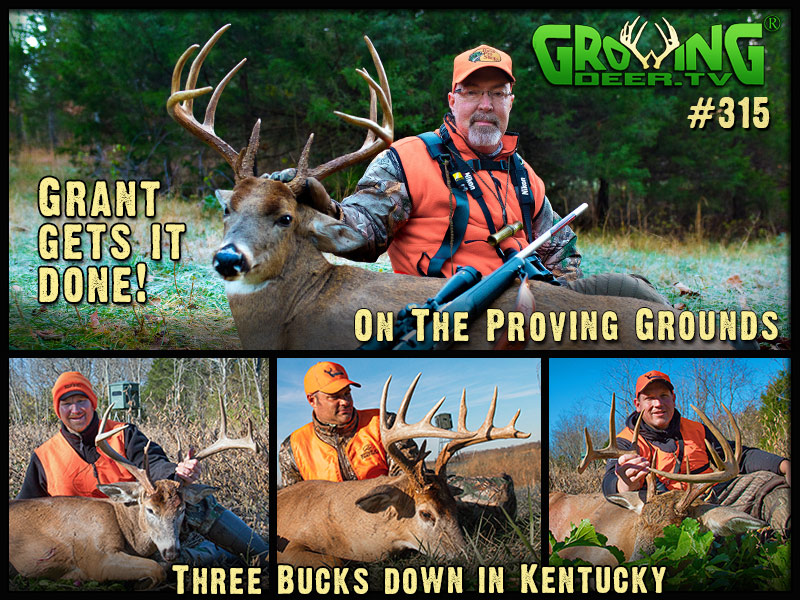 Watch four bucks go down during rifle season in GrowingDeer episode #315.
