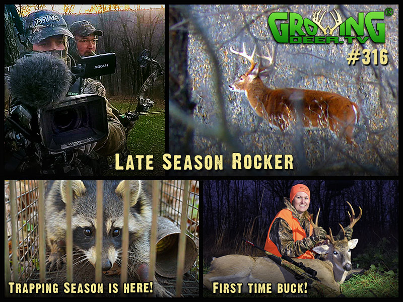 Watch two late season hunts in GrowingDeer episode #316.