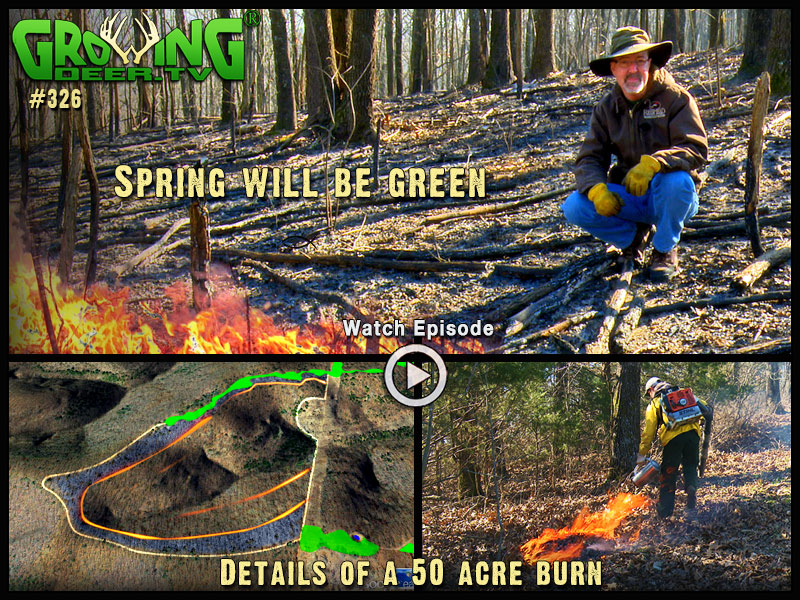 Watch a 50 acre burn how to in GrowingDeer episode #326.