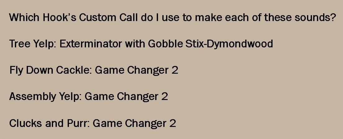 Which turkey call do I use