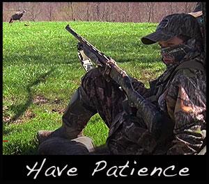 A hunter waits to take a shot.