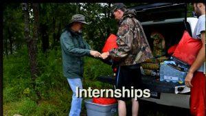 Grant assists an intern.