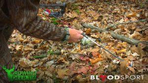 Grant holding a BloodSport arrow