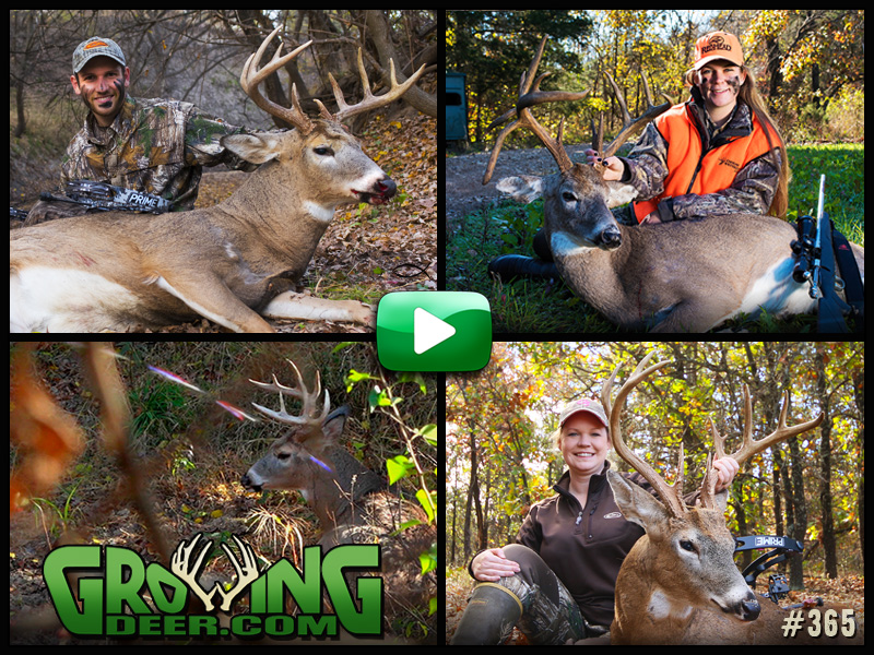 Watch GrowingDeer episode 365 to see three hunts and three buck tags get filled.