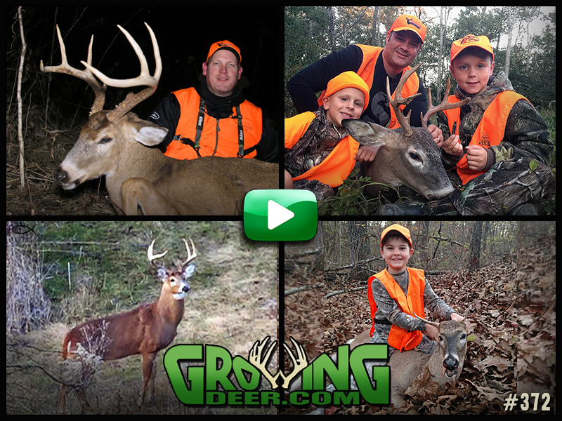 Watch GrowingDeer episode 372 to see a father/son deer hunt.