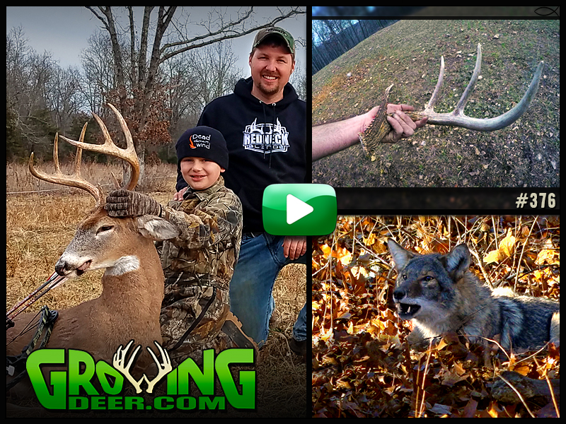 Watch Seth and Trace Harker successfully hunt late season food sources in GrowingDeer episode #376.