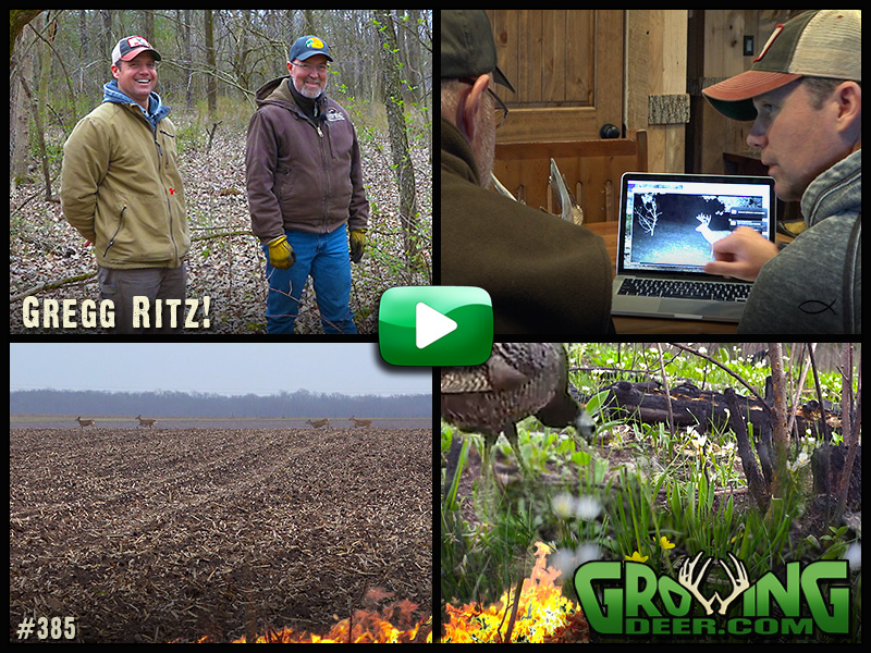 Grant helps Greg Ritz with a deer management plan in GrowingDeer episode #385.