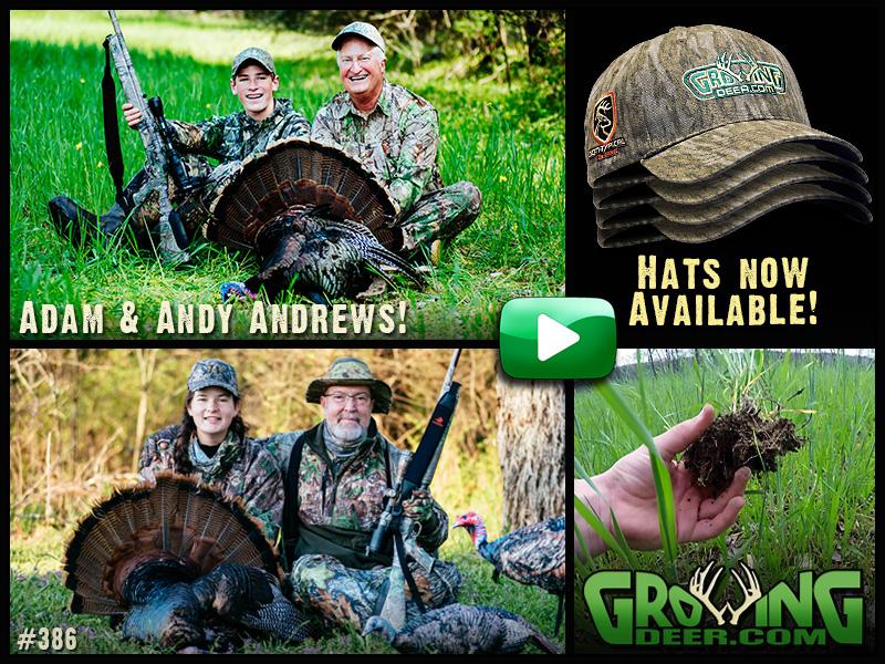 Watch two youth turkey hunts in GrowingDeer episode #386.