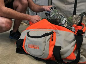Turkey gear in a Scent Crusher Gear Bag