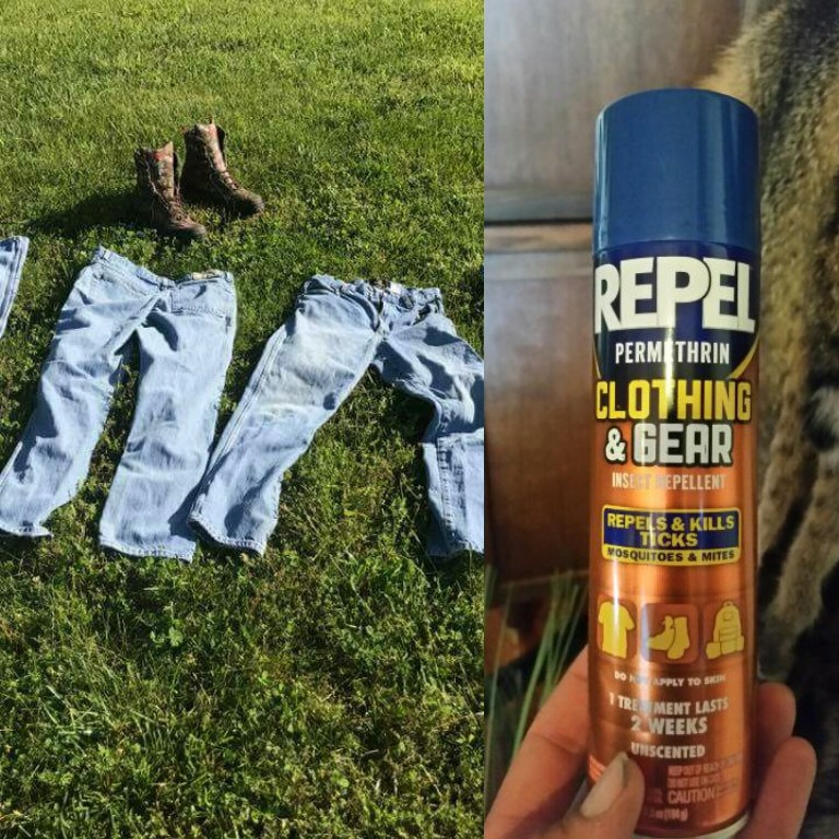 Clothing treated with permethrin