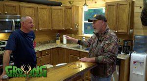 Grant talks to a fellow hunter.